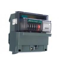Счетчик электроэнергии однофазный однотарифный Меркурий-201.5 5-60А 220В импульсный выход DIN,ОУ.