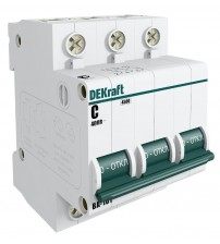 Автоматический выключатель  3п/ 63А/4,5 кА С   ВА-101 11084DEK DEKraft