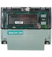 Счетчик электроэнергии однофазный многотарифный (2 тарифа) Меркурий-200-02 5-60А 220В CAN ЖКИ DIN