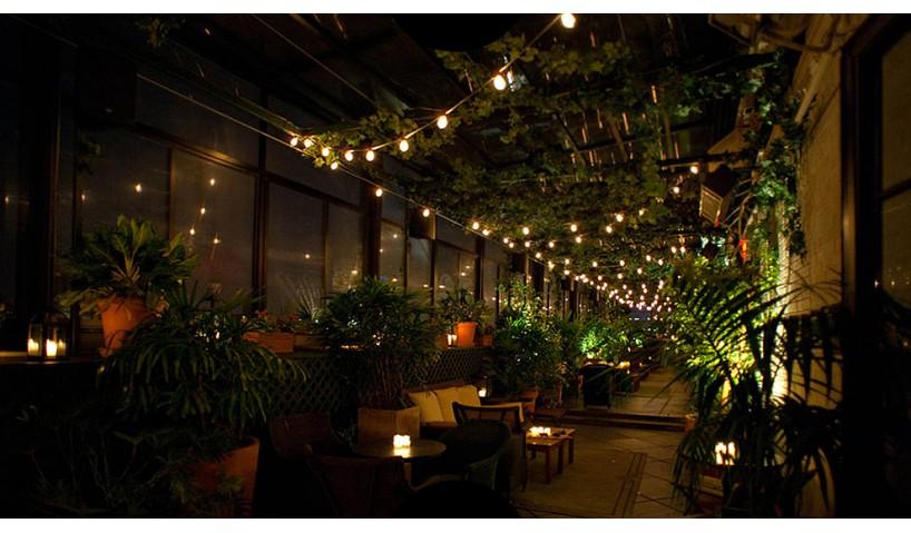Наружное освещение кафе и ресторанов
